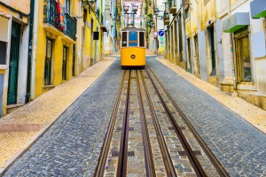 A tram in Lisbon. Source: Getty Images