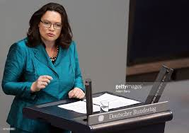 Labor Minister Andrea Nahles