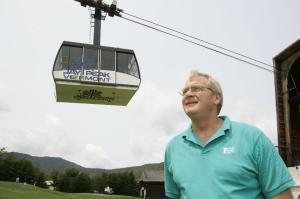 Jay Peak president Bill Stenger posed at the resort in Jay, Vt., Friday, July 7, 2006. Jay Peak Resort in Vermont has been accused of securities fraud and misuse of $200 million raised from foreign investors. (AP Photo/Alden Pellett)