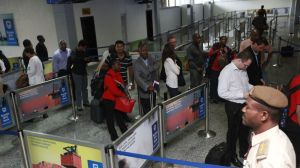 Queuing to get in. (AP Photo/Sunday Alamba)